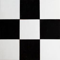 zellige noir et blanc