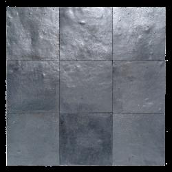 Zellige marocain gris métal