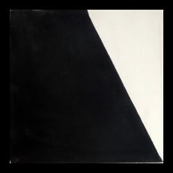 carreaux de ciment noir et blanc asymétrique