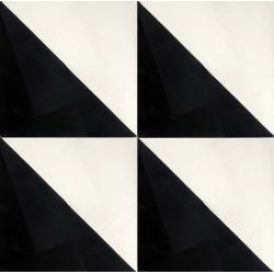 motif carreaux de ciment noir et blanc triangle